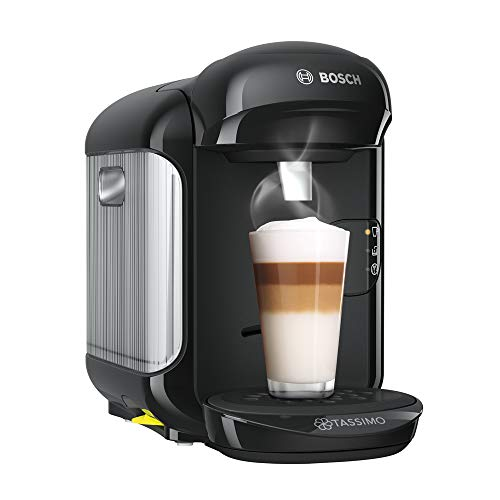 Bosch Hogar Tassimo Vivy 2 Cafetera cápsulas, 1300 W, 0.7 litros, Aluminio, Negro
