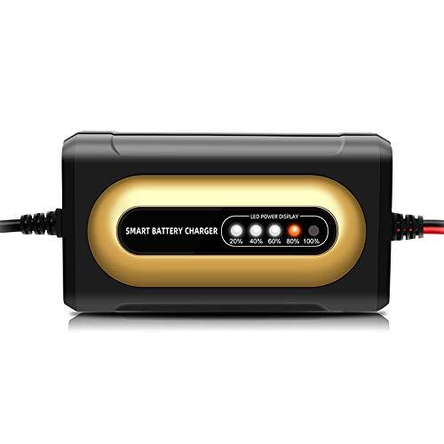 GOZAR 12V 2A Inteligente Batería Cargador LED Poder Mostrar Batería Cargador para Motocicleta Auto Camión