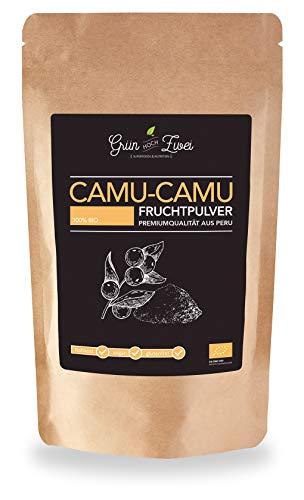 Bio Camu-Camu Pulver 200 g Premium Auslese von GrünHochZwei | 3000 mg Vitamin C auf 100 g | Superfood in kontrollierter Qualität aus Südamerika (Peru) | Hohe Vitamin C Konzentration