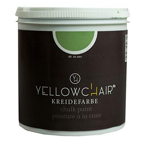 Kreidefarbe yellowchair 1 Liter ÖKO für Wände und Möbel Shabby Chic Vintage Look (No. 60 olivgrün)