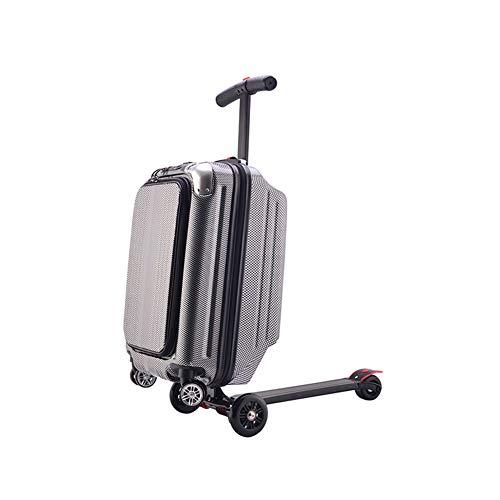 Scooter koffer, 20 inch opvouwbare multifunctionele bagage Scooter Reizen Trolley Bagage voor Reizen, School, Zaken, Luchthaven, Draagbaar Met TSA ronde douaneslot