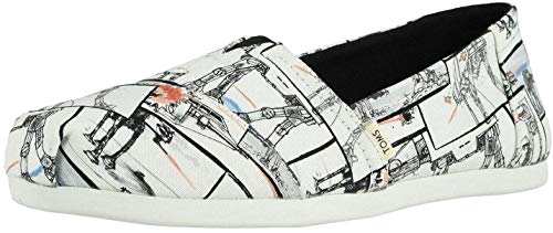 TOMS X Star Wars White At-At Print Womens Espadrilles Shoes