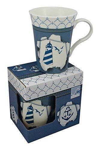 Linoows Coffee Mug Lighthouse, Cup, Maritime Coffee Mug in Geschenkebox