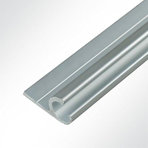 LYSEL® Kederschiene 15x30mm eloxiert 2m 45° Grau Ø10mm für Keder 6-9mm