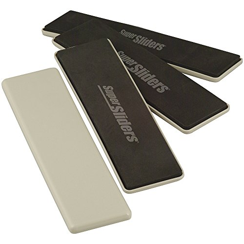 SuperSliders Reusable Furniture Sliders for Carpeted Surfaces (4 pieces) - 2-1/2 x 9, Rectangle SuperSliders by Super Sliders