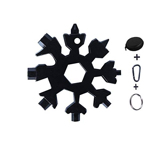 Snowflake Multi Tool18 in 1 Snowflake Hand Tools Hexagon Wrench Screwdriver Keyring for Outdoor Travel Camping Adventure Daily Tool Gadgets Gift for Men