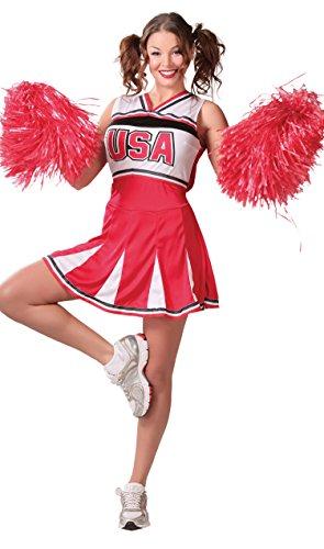 Guirca- Disfraz adulta cheerleader, Talla 38-40 (84718.0)