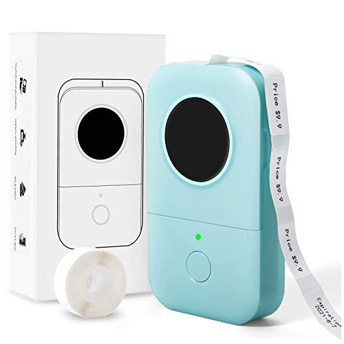 Phomemo D30 Aufkleberdrucker - Mini Bluetooth Sticker Maker 6-15 mm, Thermo-Etikettendrucker für die Beschriftung des Supermarktetiketts Speicherklassifizierung Kompatibel mit iOS und Android, Grün