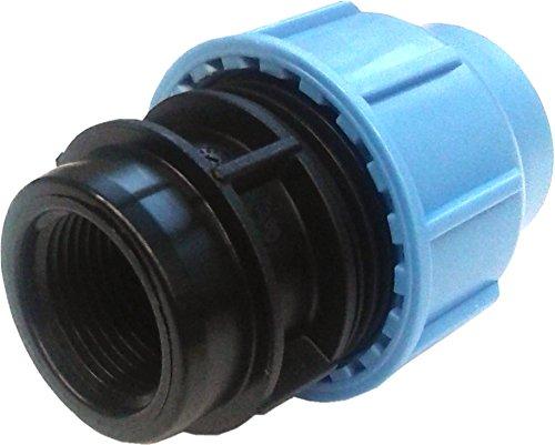 'PP connecteur de serrage pour tuyaux en PE 25 mm x 1 filetage femelle