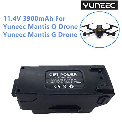 GiFi Power Yuneec Battery for Mantis Q Drone Mantis G Drone 11.4V 3900mAh High Power Replacement Li-po Battery