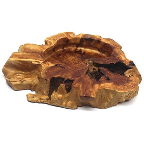 Disscool Zigarren-Aschenbecher aus Holz, unregelmäßig, für Zuhause und Büro, verschiedene Formen und zufällige Lieferung
