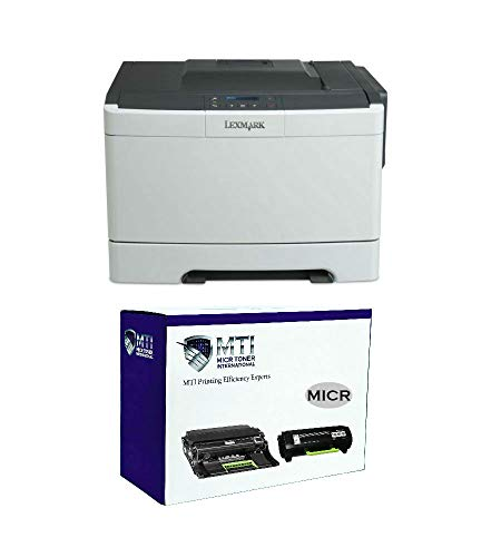 MICR Toner International 35SC060 MS317dn Magnetic Ink Check Printer Bundle with 1 MTI 50F0Z00 Compatible MICR Imaging Drum and 1 MTI 51B1000 MICR Compatible Toner Cartridge (3 Items)