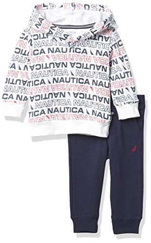 Nautica Sets (KHQ) Juego de 2 Pantalones con Capucha para bebé, Azul, (Print/Blue), 3-6 Meses