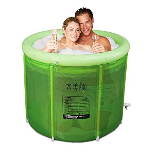 Good home Double Inflatable Bathtub Oversized Adult Folding Bathtub Thickening Plastic Bathtub SPA Bucket Portable