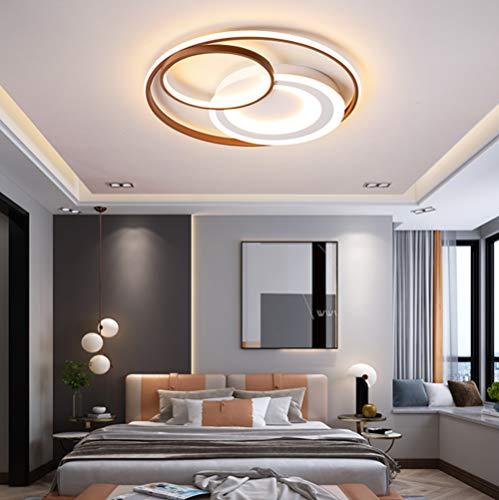 Lámpara de techo Moderna LED Marrón Redonda de Diseño Regulable Con mando a Distancia Luces Colgantes Acrílico Pantalla para Dormitorio Cocina Comedor Pasillo Baño Casa de campo Decor del Hogar Luz