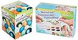 Brandsseller Set da colorare per uova di Pasqua, set da 2 pezzi, colori anali e colori liquidi per uova con bicchieri