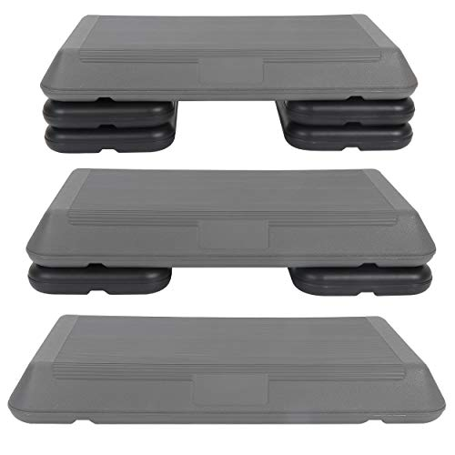 ZENY ステップ台 エクササイズエアロビクスステップ 踏み台昇降運動 3段階高さ調節ブロック付 滑り止め 組み立て簡単