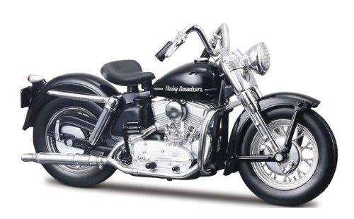 Harley Davidson Modell, 1952 K Model schwarz (30), Maisto Motorrad 1:18