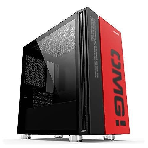JF-TVQJ Caja Pc Gamer Caja para Juegos Mid-Tower M-ATX, Trabajo Desde Casa Chasis para Computadora USB 3.0 - Panel Lateral De Vidrio Templado - Caja para PC Lista para Refrigeración por Agua