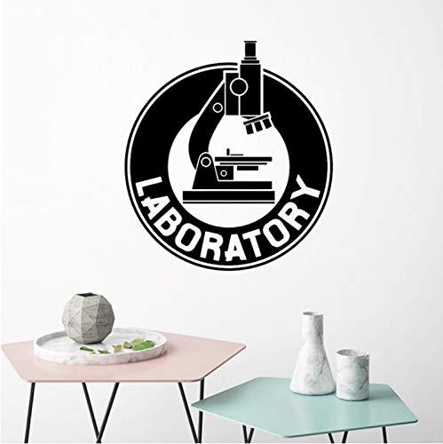 Mikroskop Wandaufkleber Schlafzimmer Labor Kunst Aufkleber Chemie Wissenschaft Biologie Vinyl Wandtattoos Labor Wasserdicht Dekor 56x62 cm