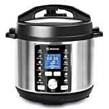 MOOSOO 13-in-1 Electric Pressure Cooker, 6QT Instant One-Touch Pressure Pot, Stain-Resistant Pressure Cooker with Digital Touchscreen, Slow Cooker, Steamer, Saute, Cake Maker, Egg Cooker, with ETL Certified, 11+ Accessories and Recipes