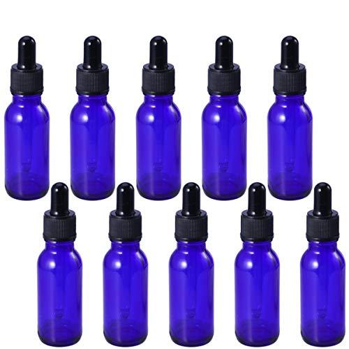 Frcolor 10 pcs 20 ml Verre Liquide Réactif Pipette Bouteille Avec Oeil Compte-gouttes Aromathérapie Essentiel Oi Bouteilles Rechargeables