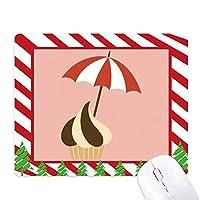サンシェードスウィートチョコレートアイスクリーム ゴムクリスマスキャンディマウスパッド