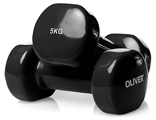 Oliver Vinyl Hantel 2 x 5,0 kg Hantelset Kurzhanteln Fitness Aerobic Training