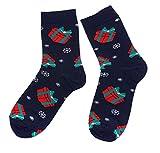 Weri Spezials Frohe Weihnachten Herren Socken mit lustigen Weihnachtsmotiven! In mehreren Mustern- & Farbvariationen! (39-42, Marine Weihnachtsschmuck)