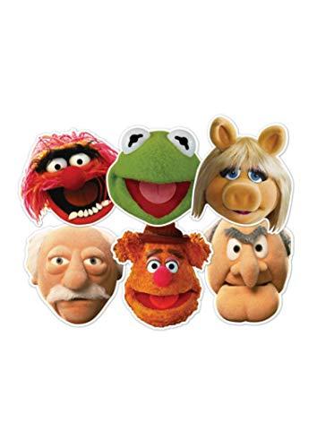 STAR CUTOUTS–stsmp60–6Masken–Verschiedene Figuren–The Muppets Show–Einheitsgröße