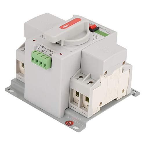 Fournyaa Interruptor de Transferencia automática, Interruptor de Transferencia automática Interruptor Controlador, para Edificios de oficinas Disyuntor Fuente de alimentación Equipo de distribución
