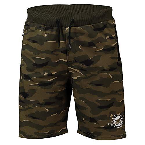Fanatics NFL Football Shorts Miami Dolphins Logo Hose Camo Camouflage (XXL)