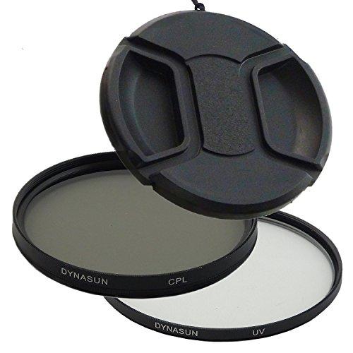 Filtro Ultra Violetto DynaSun UV 62 mm + Polarizzatore Circolare CPL C-PL 62mm +Tappo a Molla Rapido