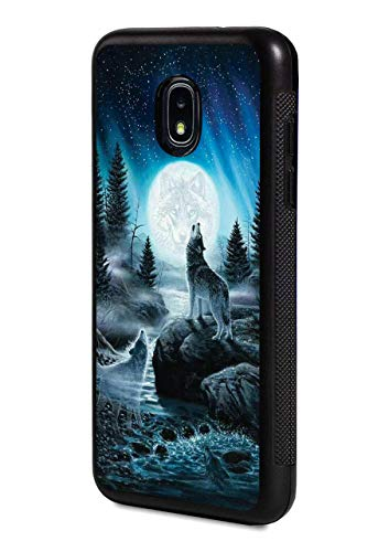Galaxy J7 (2018) Case,Slim Impact Resistant Shock-Absorption Rubber Protective Case Cover for Samsung Galaxy J7 (2018) - Roaring Wolf