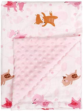SYIDOOLE Baby Blanket Receiving Blanket Super Soft Plush with Dotted Backing Minky Swaddle Blanket product image