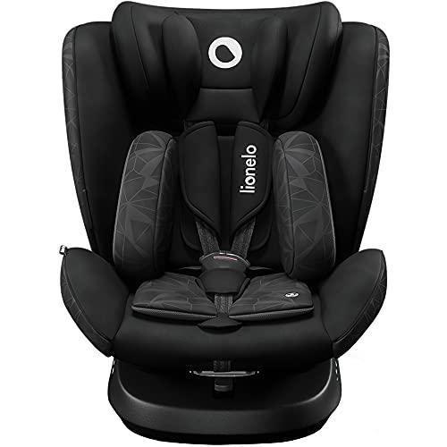 LIONELO Bastiaan One silla de coche bebe desde el nacimiento hasta los 36 kg, giratoria a 360 grados, Isofix Top Tether cinturón de seguridad de 5-puntos, Certificado TUV