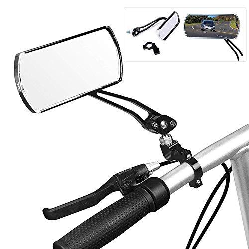 wishing Fahrrad-Rückspiegel, 2 Stücke Fahrradspiegel Fahrrad Radfahren Rückspiegel 360-Grad Drehbar 125 x 45 mm Flachen Spiegel für MTB Fahrrad,Rollstuhl,Mofa, Rollator, Rennrad, E-Bike