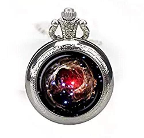 Nebula Helix Taschenuhr Halskette Nebula Watch Schmuck Galaxie Uhr Halskette Helix Nebel Sternbild Aquarius Universum Taschenuhr Anhänger