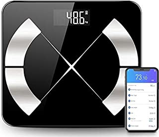 Innoo Tech Weight Scale for Body Weight, Bluetooth Smart Digital Body Fat Scale for Body Composition BMI
