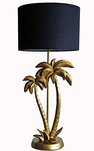 Bada Bing Hochwertige Große Tischlampe Gold Palme Lampe Dekolampe Tischleuchte Extravagant Edel 64