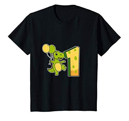 Niños Divertido 1er Cumpleaños Dinosaurio Disfraz 1 Año T-Rex Camiseta