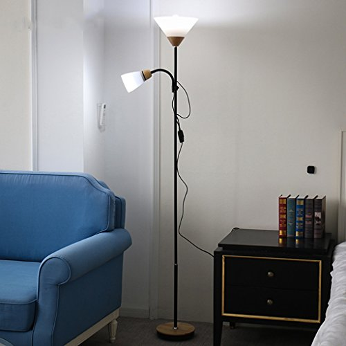 Vloerlamp LED afstandsbediening woonkamer slaapkamer dubbele kop E27 vloerlamp