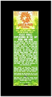 Music Ad World GREEN MAN FESTIVAL - 2011 - Fleet Foxes Iron and Wine Mini Poster - 28.5x10cm