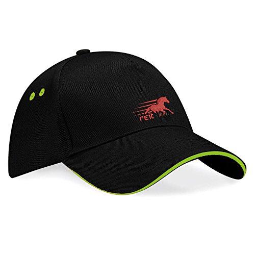 Natshop2000 paardensport paarden fun geborduurd logo baseballcap muts - k030 - SW - groen