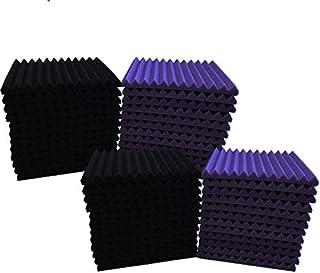 """48 Pack paars ZWART 1"""" x 12"""" x 12"""" akoestische Wedge Studio Foam Sound Absorption wandpanelen"""