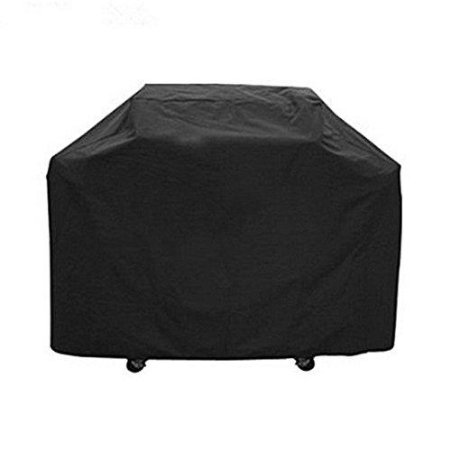 Housse imperméable pour barbecue d'extérieur - Noir - Protection contre la pluie, la poussière - Pour barbecue au gaz, au charbon, au bois ou électrique - Taille S : 144 x 117 x 61 cm, S:145x61x117cm