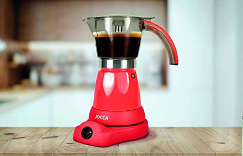 Jocca - Cafetera Italiana con Enchufe británico, Aluminio, Cristal ...