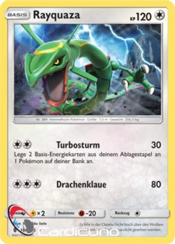 Rayquaza 106/145 Pokémon Stunde der Wächter Sammelkarte - Deutsch - Cardicuno