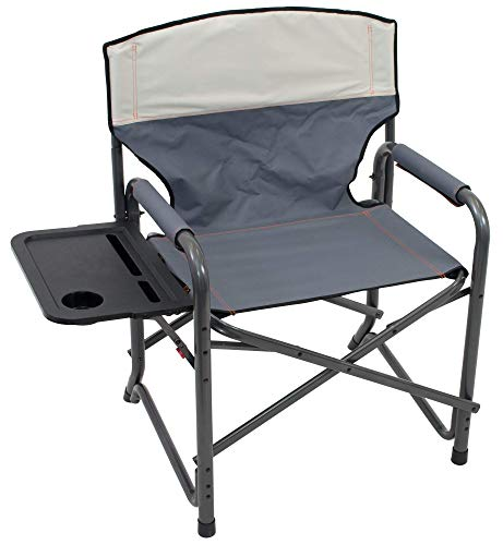 "Rio Gear Broadback XXL Directors Outdoor Folding Chair - Slate/Putty, 28"" x 38"" x 24.5"""