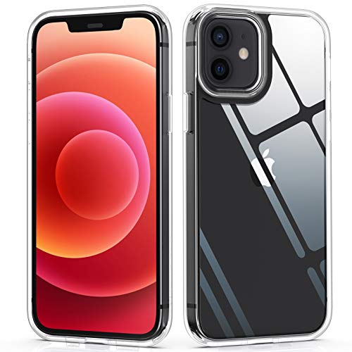 YOUMAKER [ 2021 Upgraded ] Designed for iPhone 12 Case/Designed for iPhone 12 Pro Clear Case - Clear